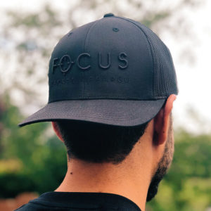 Focus Black on Black Trucker Cap | Focus Sports Apparel