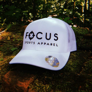 Focus Black on White Trucker | Focus Sports Apparel