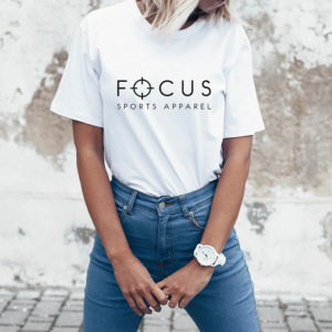 Focus White T-shirt | Focus Sports Apparel