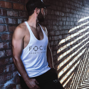 Focus White Stringer | Focus Sports Apparel