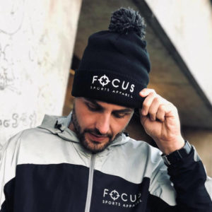 Focus Black PomPom Beanie | Focus Sports Apparel