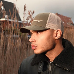 Focus Khaki Script Trucker Cap | Focus Sports Apparel