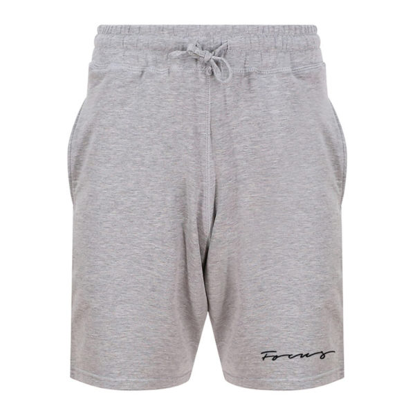 Mens Grey Script Jogger Shorts | Focus Sports Apparel