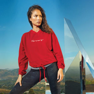 Focus Red Cropped Hoodie | Focus Sports Apparel