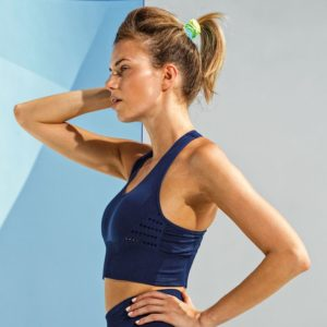 Focus Navy Reveal Bra | Focus Sports Apparel