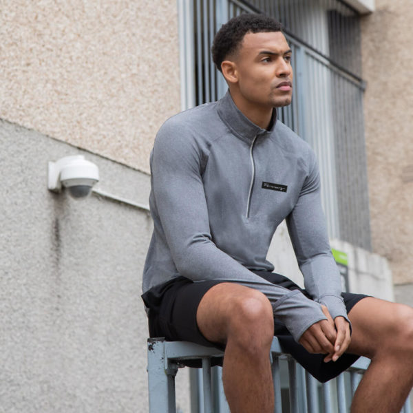 Focus Script Long Sleeve 1/4 Zip Top | Focus Sports Apparel