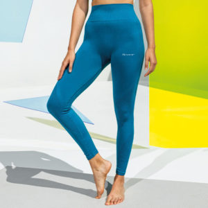 Focus Script Azure Blue Sculpt Leggings | Focus Sports Apparel