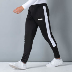 Focus Block Black/White Tracksuit Pants | Focus Sports Apparel