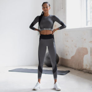 Focus Seamless Slate Grey Flow Long Sleeve Crop | Focus Sports Apparel