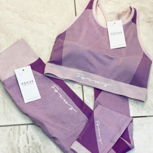 Focus Seamless Purple Flow Bra | Focus Sports Apparel
