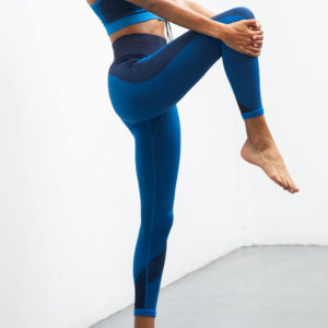 Focus Seamless Blue Flow Leggings | Focus Sports Apparel