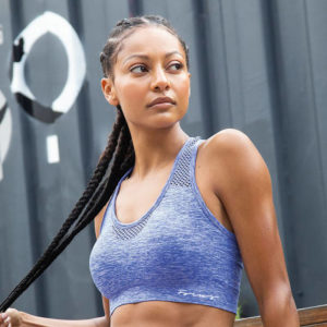 Focus Blue Marl Sports Bra | Focus Sports Apparel