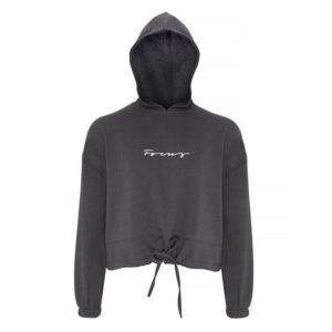 Focus Charcoal Cropped Hoodie | Focus Sports Apparel