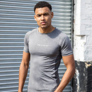 Focus Grey Script Performance T-Shirt | Focus Sports Apparel